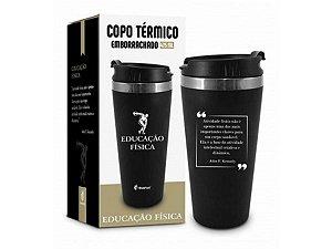 COPO TÉRMICO 450ML BRASFOOT EMBORRACHADO CURSO ED. FÍSICA