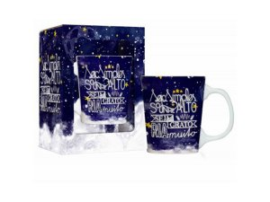 CANECA PORCELANA 280ML PREMIUM BRASFOOT GALAXY