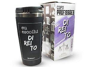 COPO TÉRMICO 450ML CASUAL GIFT EU ESCOLHI DIREITO