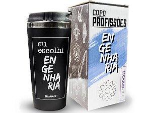 COPO TÉRMICO 450ML CASUAL GIFT EU ESCOLHI ENGENHARIA