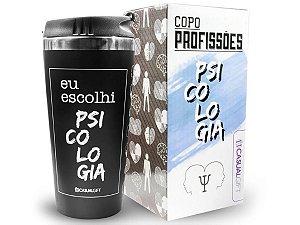 COPO TÉRMICO 450ML CASUAL GIFT EU ESCOLHI PSICOLOGIA
