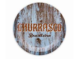 PRATO RASO OXFORD 26CM CHURRASCO AZUL