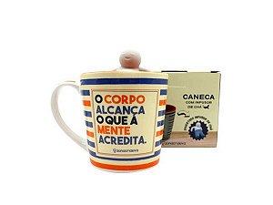 CANECA CERÂMICA 350ML ZONA CRIATIVA C/ INFUSOR CORPO ALCANÇA