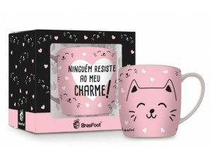 CANECA PORCELANA 360ML URBAN BRASFOOT CAT