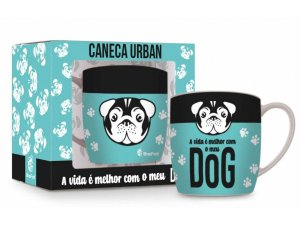 CANECA PORCELANA 360ML URBAN BRASFOOT DOG