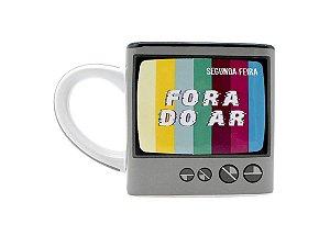 CANECA CERÂMICA 300ML CUBO ZONA CRIATIVA FORA DO AR