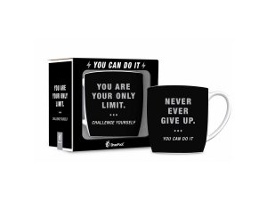 CANECA PORCELANA 360ML URBAN BRASFOOT YOU ARE YOUR