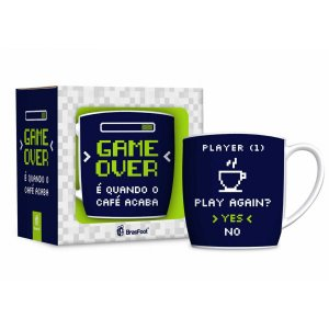 CANECA PORCELANA 360ML URBAN BRASFOOT - GAME OVER