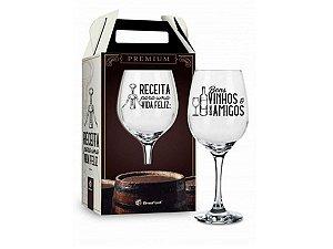 Taça de Vinho Individual 385ml Brasfoot - Premium