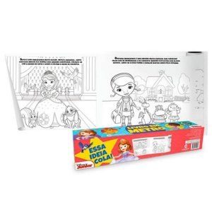 Livro Em Metro - Disney Junior - Para Colorir Auto Adesivo