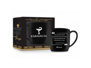 Caneca Porcelana 360ml Urban Curso Brasfoot - Farmácia