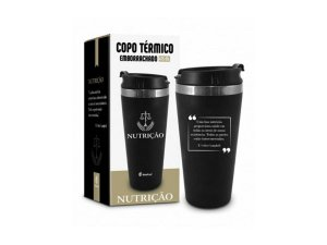 COPO TÉRMICO 450ML BRASFOOT EMBORRACHADO CURSO NUTRIÇÃO