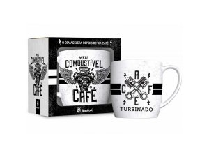 CANECA PORCELANA 360ML URBAN BRASFOOT COMBUSTIVEL CAFÉ