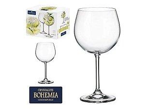 Conjunto de Taças de Cristal 600ml 6Pçs Bohemia p/ Gin