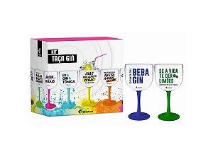 Taça de Gin 580ml c/ 2un Bicolor Brasfoot