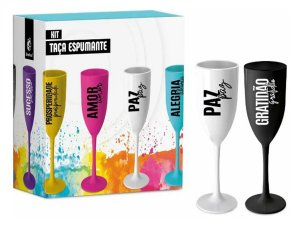Taça Espumante 180ml c/ 2un Brasfoot