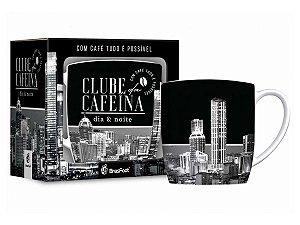 Caneca Porcelana 360ml Urban Brasfoot Clube da Cafeína