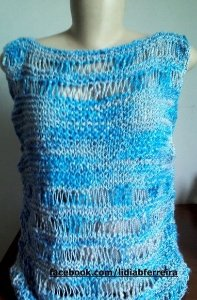 Blusa Azul Canoa Primavera