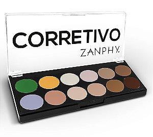Paleta Corretivo 12 Cores Zanphy