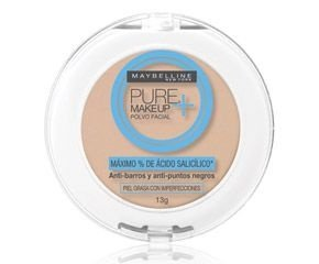 Pó Compacto Facial Maybelline Pure Makeup Cor Arena Natural