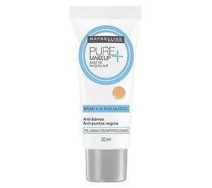 Base Maybelline Pure Makeup +  30ml Cor Claro Natural