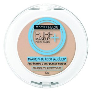 Pó Compacto Facial Maybelline Pure Makeup Cor Natural