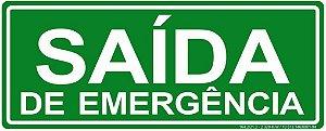 Placa - Saída de Emergência
