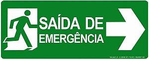 Placa - Rota de Fuga Saída de Emergência à Direita