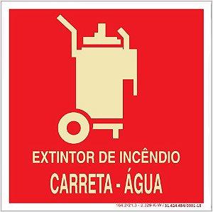 Placa Sinalização de Emergência - Fotoluminescente - Extintor de incêndio carreta agua