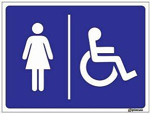 Placa WC Feminino Acessível