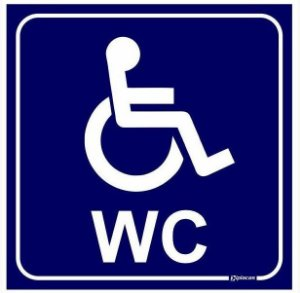 Placa WC Exclusivo para Deficientes