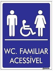 Placa WC Familiar Acessível