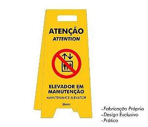 Placa tipo Cavalete em PS - Elevador em Manutenção