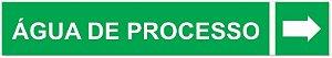 Etiqueta Adesiva Identificação de Tubulação Água de Processo
