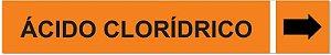 Etiqueta Adesiva Identificação de Tubulação Ácido Clorídrico