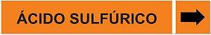 Etiqueta Adesiva Identificação de Tubulação Ácido Sulfúrico