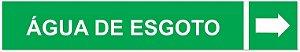 Etiqueta Adesiva Identificação de Tubulação Água de Esgoto