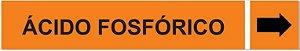 Etiqueta Adesiva Identificação de Tubulação Ácido Fosfórico