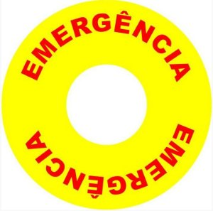 Etiqueta - Botão de Emergência