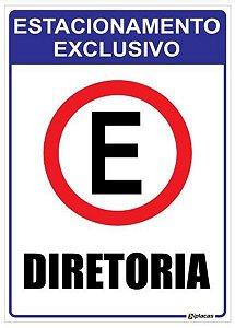 Placa Estacionamento Exclusivo para Diretoria