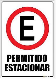 Placa Permitido Estacionar