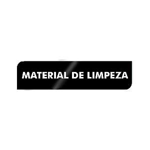 Placa Identificação - Material de Limpeza - Acrilico