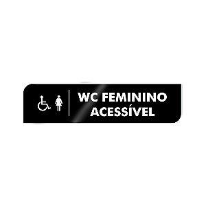 Placa Identificação - WC Acessível Feminino - Acrilico