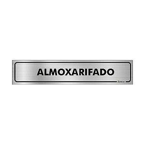 Placa Identificação - Almoxarifado - Aluminio