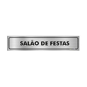 Placa Identificação - Salão de Festas - Aluminio