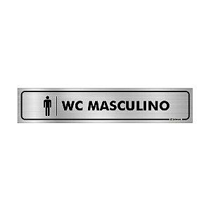 Placa Identificação - WC Masculino - Aluminio