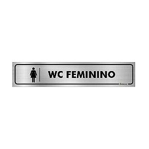 Placa Identificação - WC Feminino - Aluminio
