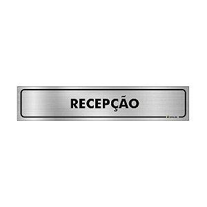Placa Identificação - Recepção - Aluminio