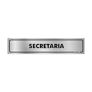 Placa Identificação - Secretaria - Aluminio