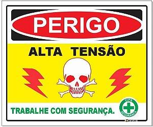 Placa - Perigo - Alta Tensão